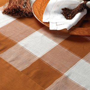Copper Check Linen