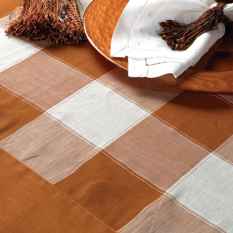 Copper Check Linen