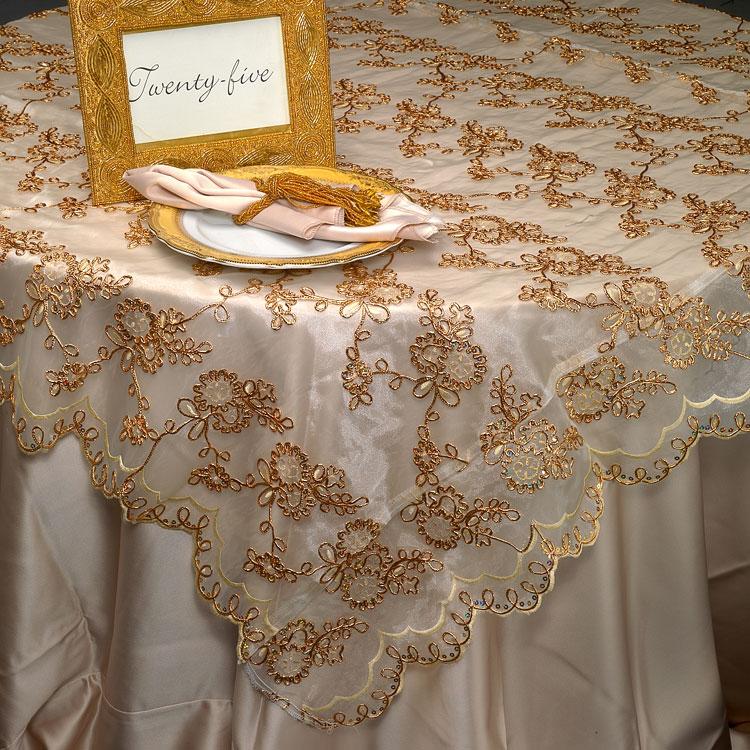 Gold Braided Sequin Silk