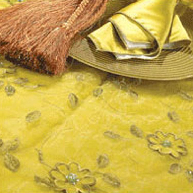 Pistachio Floral Sequin Silk