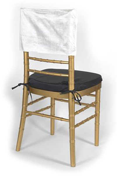 Ecru Dupioni Silk Square Chair Cap