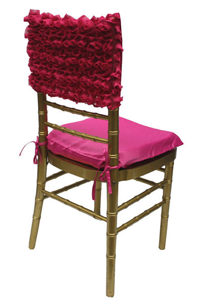 Fuchsia Rosette Chair Cap