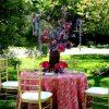 Fuchsia Rose Garden Taffeta