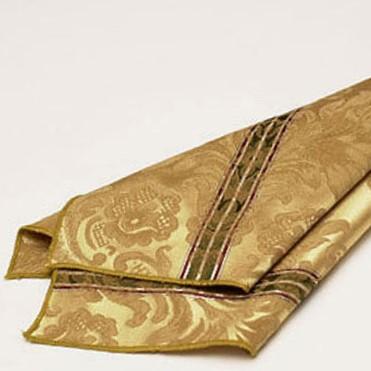 Gold Italian Stripe Damask Napkin2