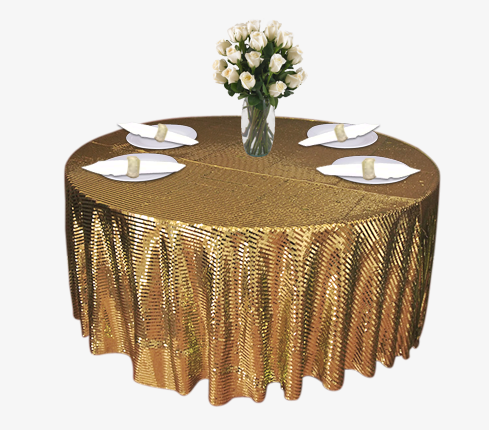 Gold Piano Sequin Table Linen Rental Tablecloth Cloth