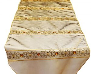 Golden Rhinestone Table Runner