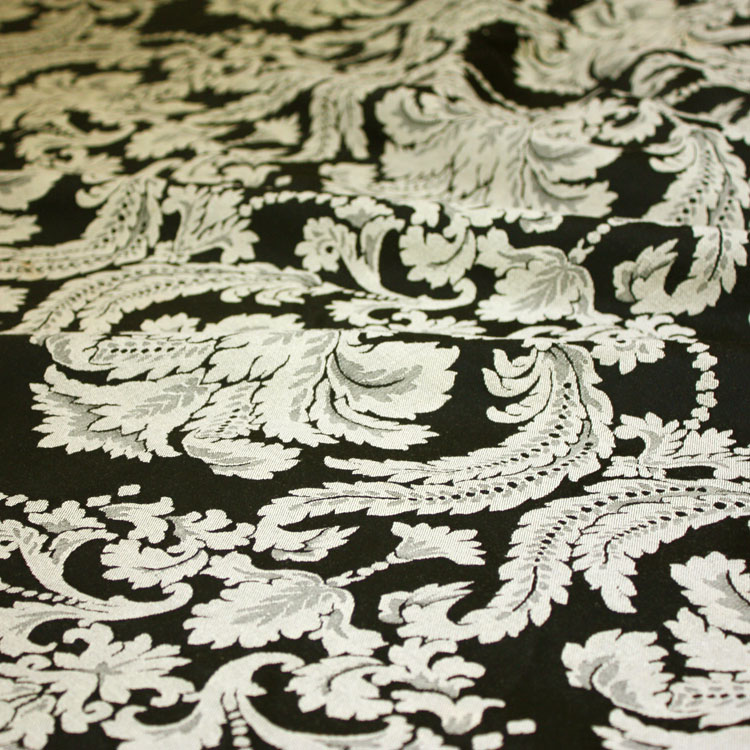 black taupe damask table linen