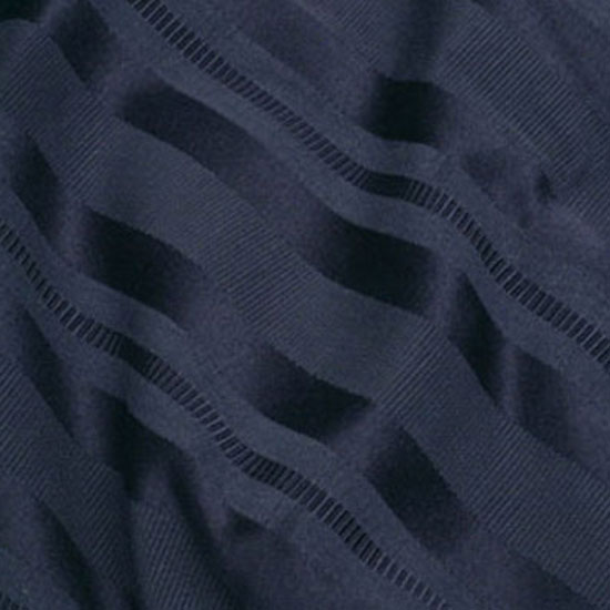 Navy Stripe Damask