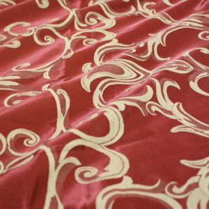 Rust & Gold Swirl Damask