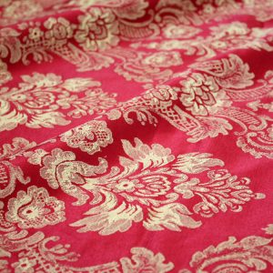 Wine & Gold Damask