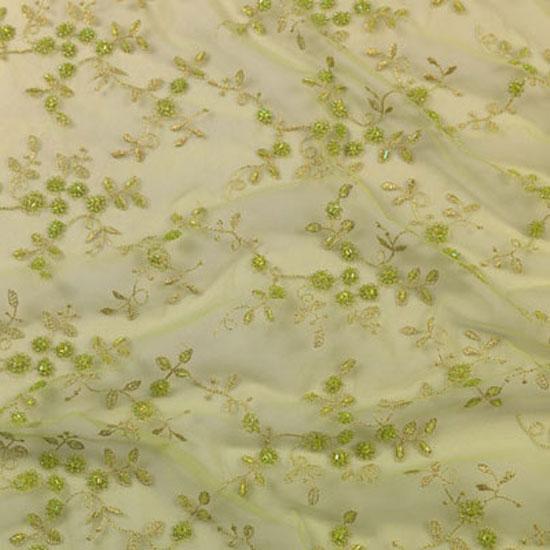 Sage English Beaded Lace