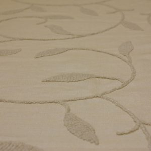 Ivory Embroidered Linen