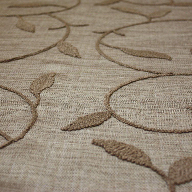 Taupe Embroidered Linen