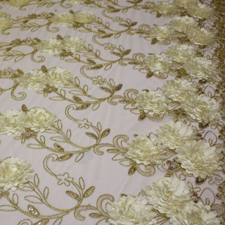 Ivory Gold Floral Bouquet