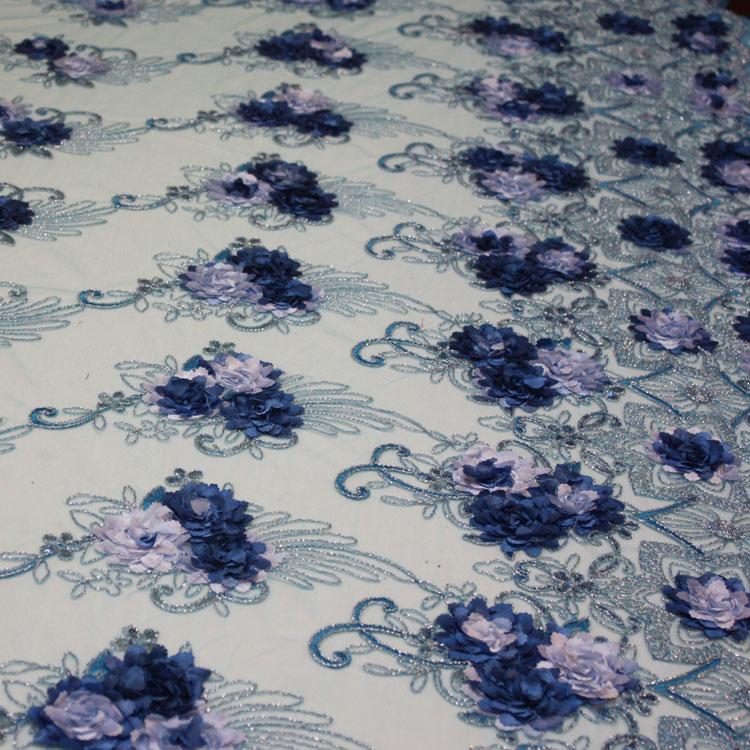 Turquoise/Light Blue Floral Bouquet