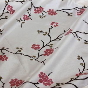 Cherry Blossom Flock Taffeta
