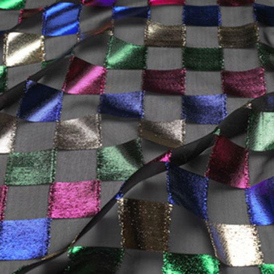 Checkered Lame Sheer