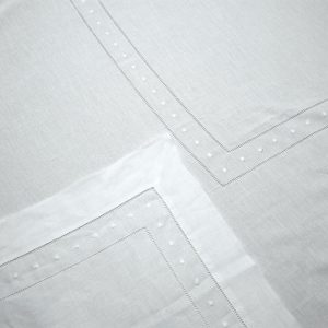 White Hemstitch with Swiss Dots