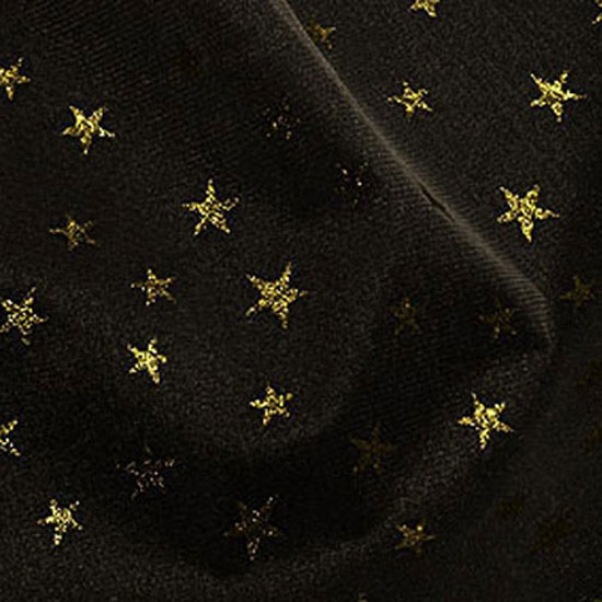 Black Net with Gold Stars