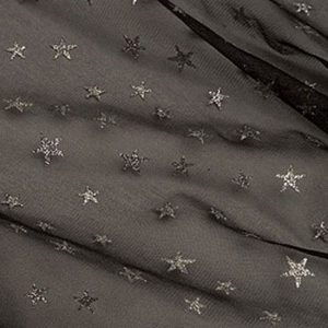 Black Net with Silver Stars