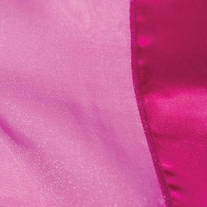 Fuchsia Organdy with Satin Trim