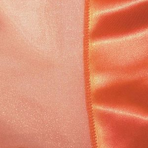 Orange Organdy with Satin Trim