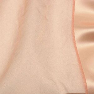 Peach Organdy with Satin Border