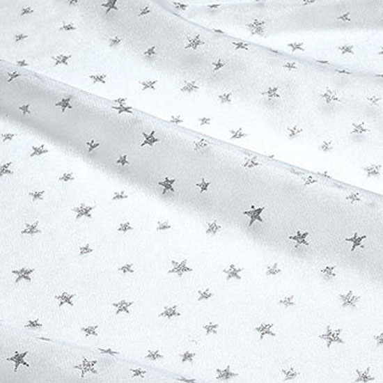 White Net with Silver Stars