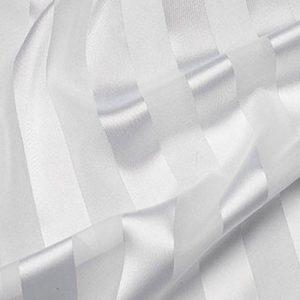 White Regal Stripe Sheer