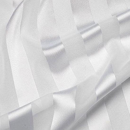 White Regal Stripe Sheer