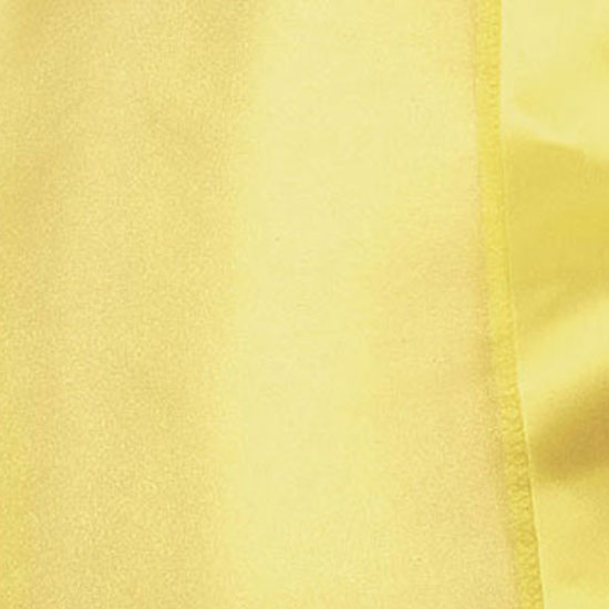 Yellow Organdy with Satin Trim