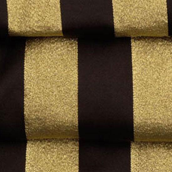 Black & Gold Satin Stripe