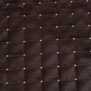 Black Quilted Satin with Gold