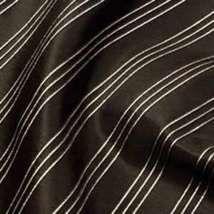 Black & Silver Stripe Brocade