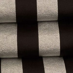 Black & Silver Satin Stripe