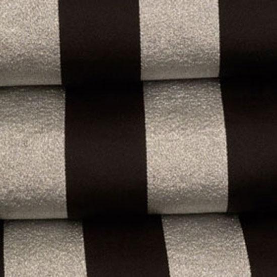 Black & Silver Satin Stripe