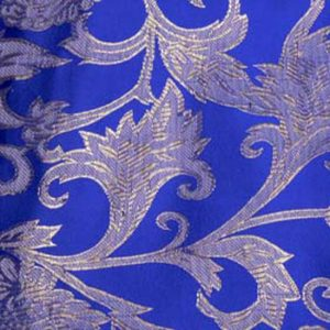 Electric Blue Artistic Brocade
