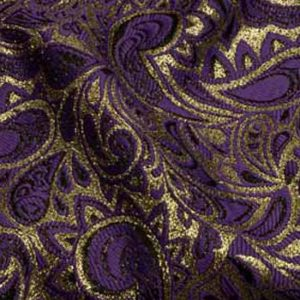 Purple & Gold Paisley Brocade