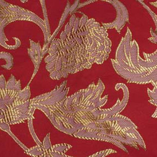 Red Artistic Brocade