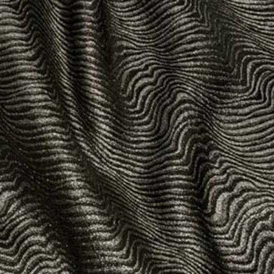 Silver & Black Brocade