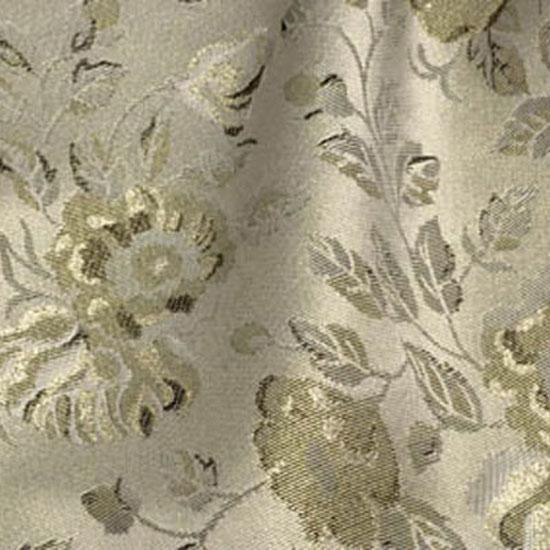 Silver & Gold Floral Brocade