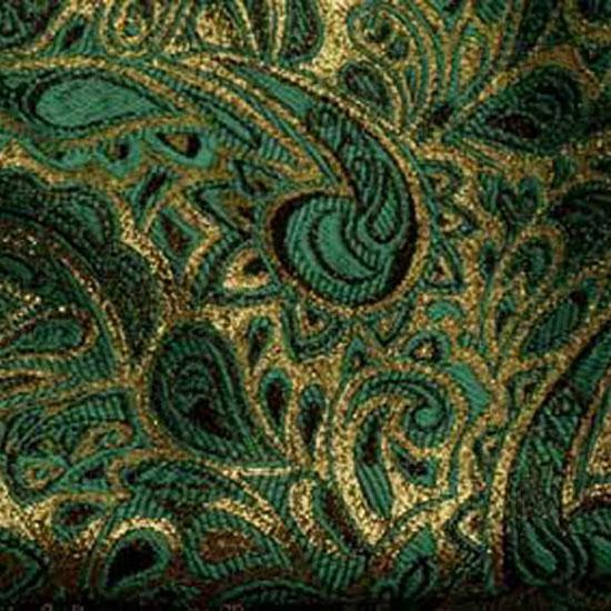 Teal & Gold Paisley Brocade