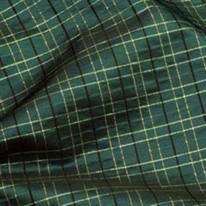 Teal & Gold Plaid Taffeta