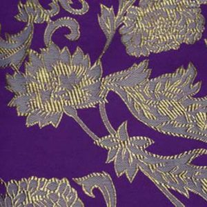 Violet Artistic Brocade