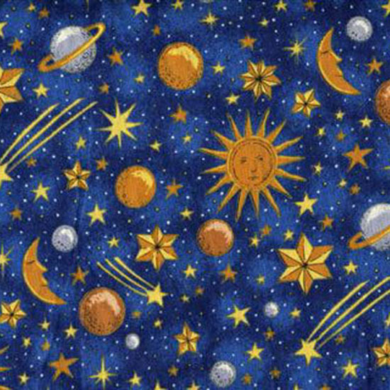 Celestial table linen for Sun and moon material