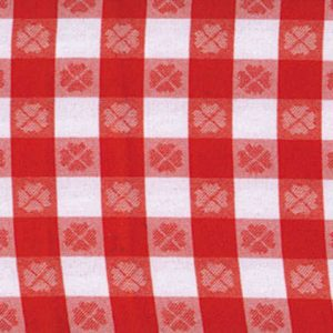 Red & White Large Check