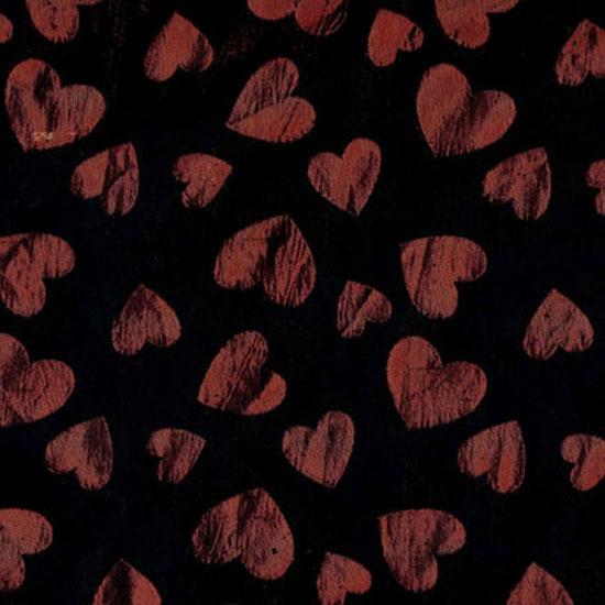 Black & Red Hearts Brocade
