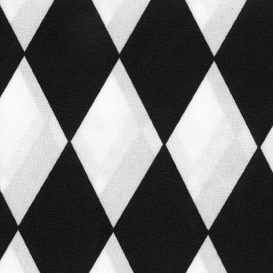 Black & White Harlequin Table Linen