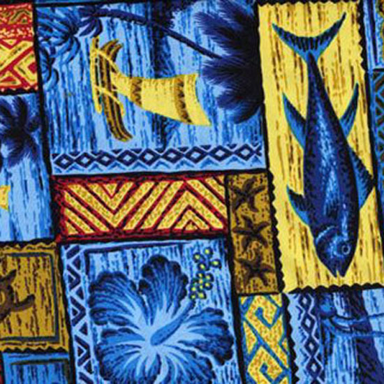 Blue Hawaiian Patchwork