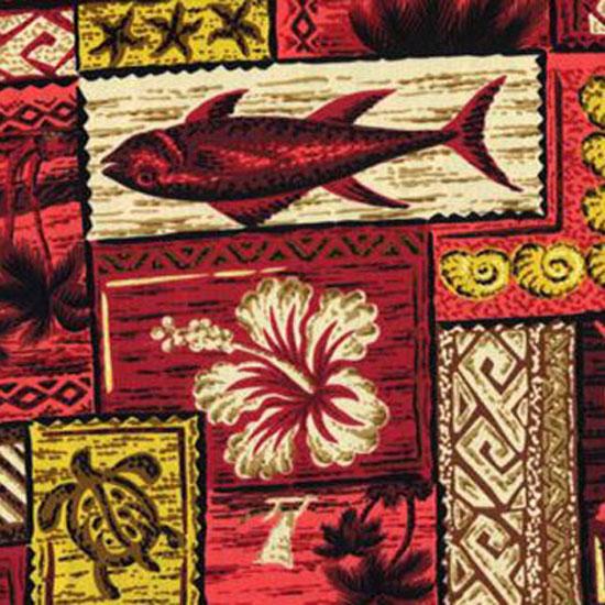 Red Hawaiian Patchwork